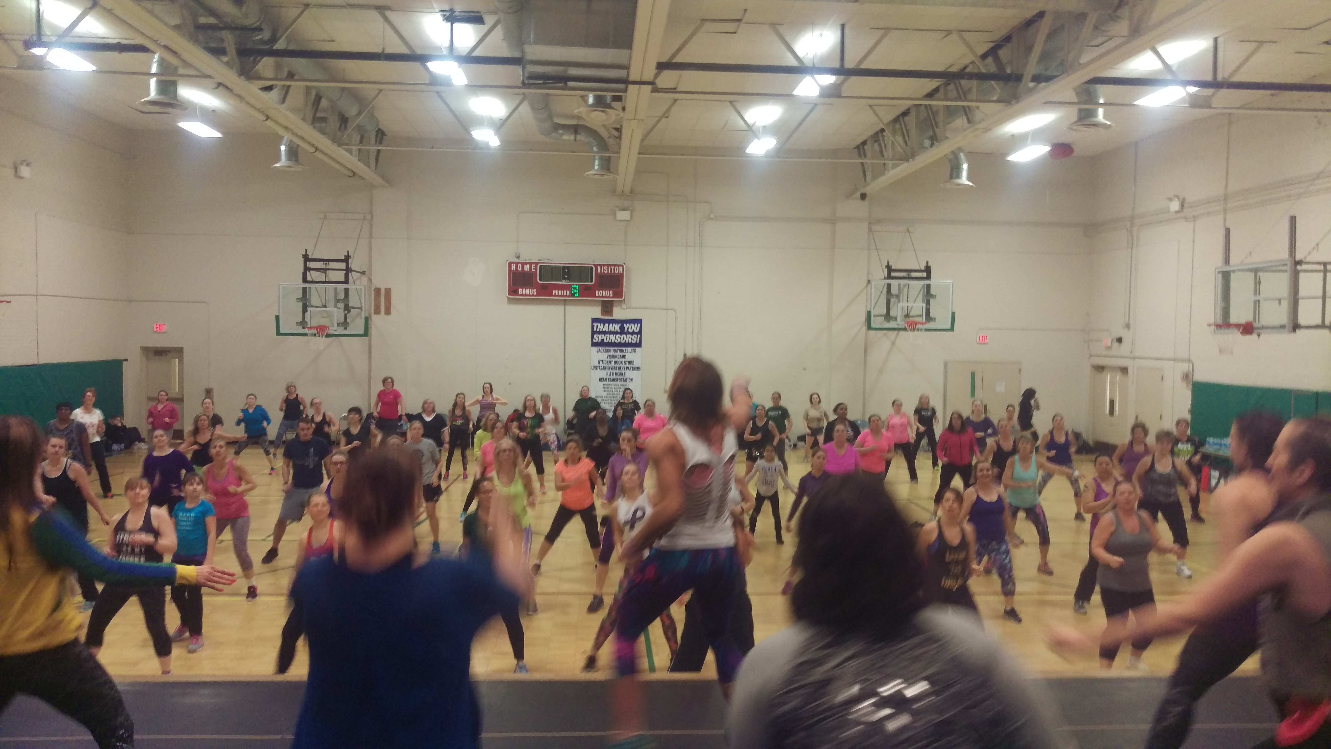 Chris Keith Zumbathon Fight against Domestic Violence