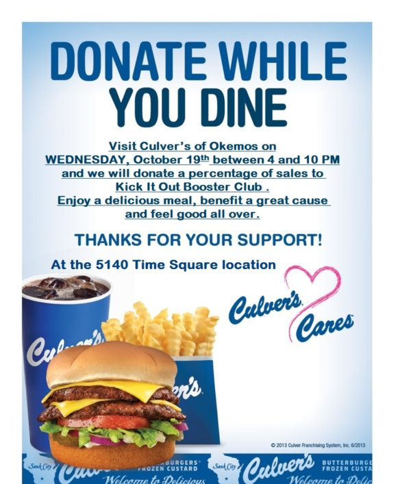 Culver's of Okemos – Benefit Night!