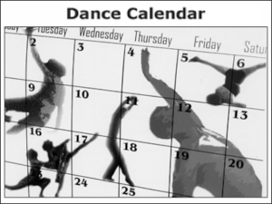 Kick It Out Dance Calendar
